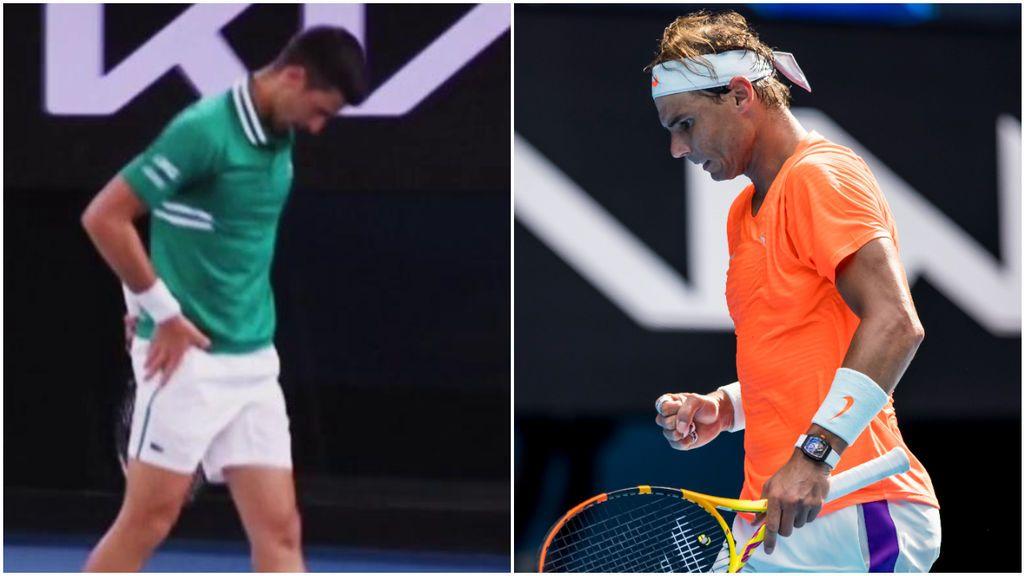 """Nadal siembra la duda sobre la 'lesión' de Djokovic: """"Si tienes problemas físico no ganas"""""""
