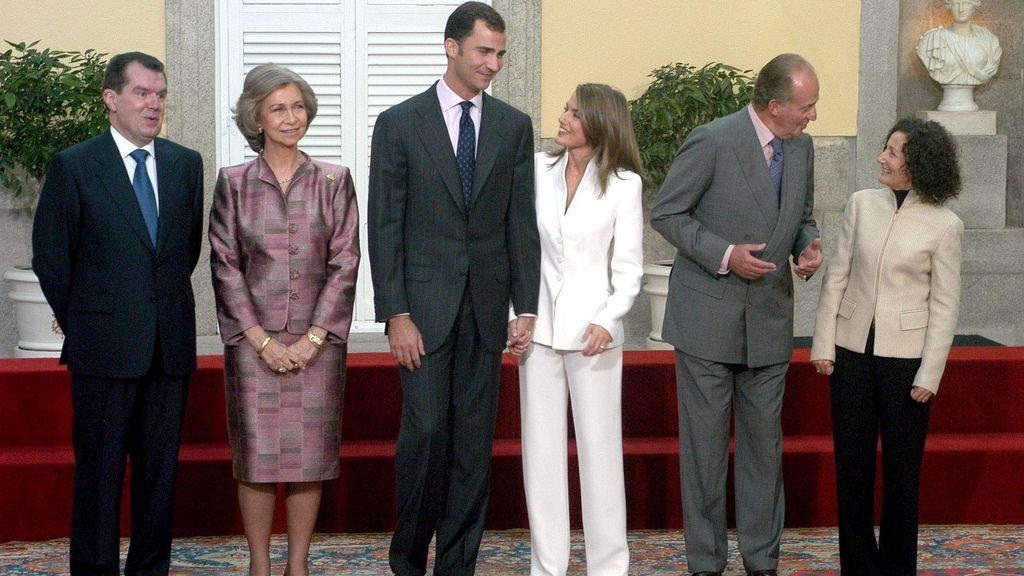 La pedida de mano de Felipe y Letizia en Zarzuela