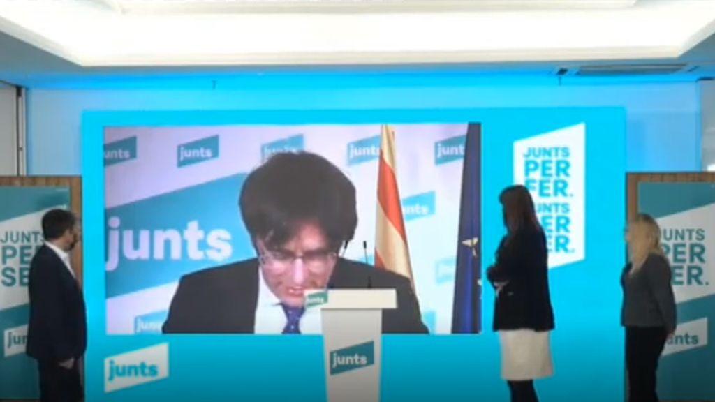 Puigdemont apuesta por un gobierno independentista