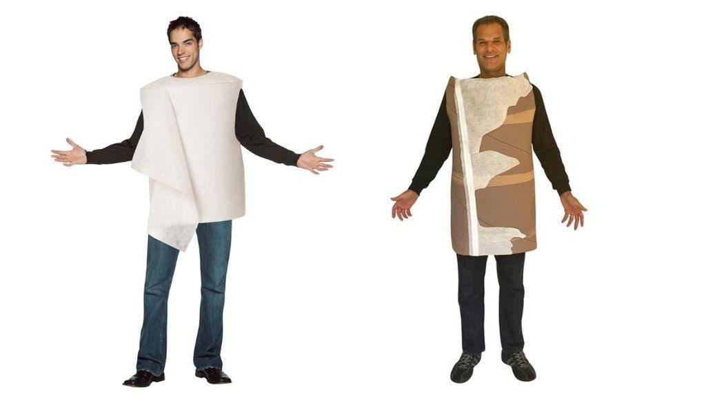 Dos tipos de disfraces de rollo de papel higiénico (Rasta Imposta)
