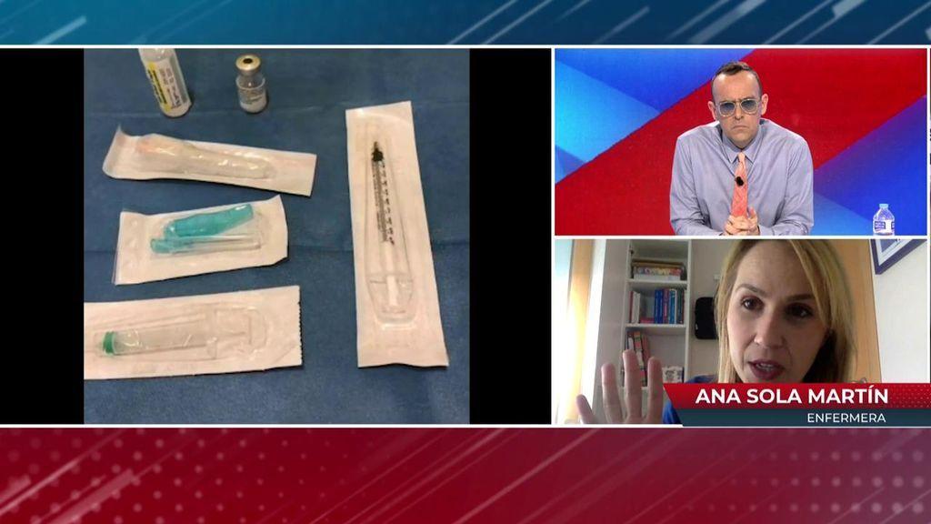 La enfermera que ha diseñado un método para sacar una dosis extra de cada vial de la vacuna