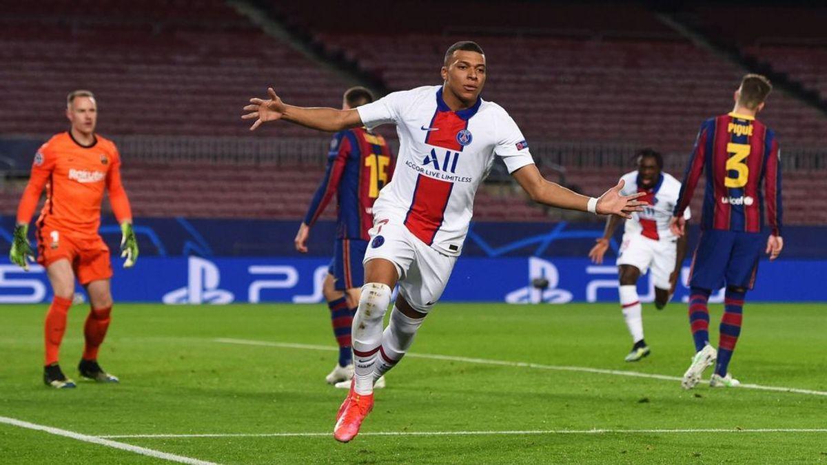 El PSG se lleva el primer asalto ante el Barça con un gran Mbappé