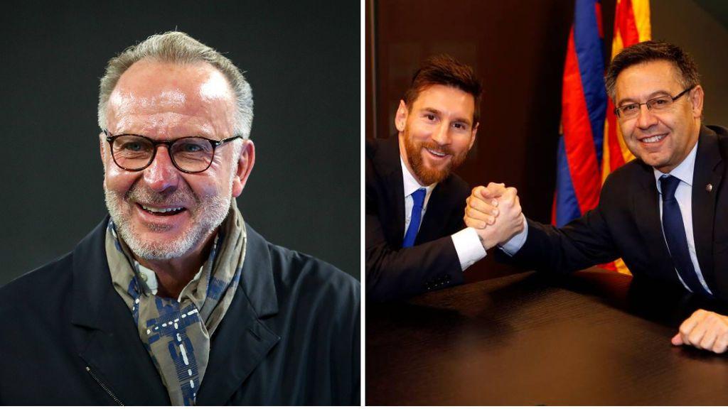 """Rummenigge se mofa del Barcelona y de Messi por el faraónico contrato que firmaron: """"Cuando lo vi, solo pude reírme"""""""