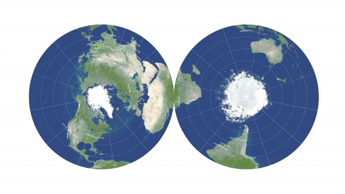 Tres científicos diseñan un nuevo concepto de mapa-mundi plano que minimiza distorsiones