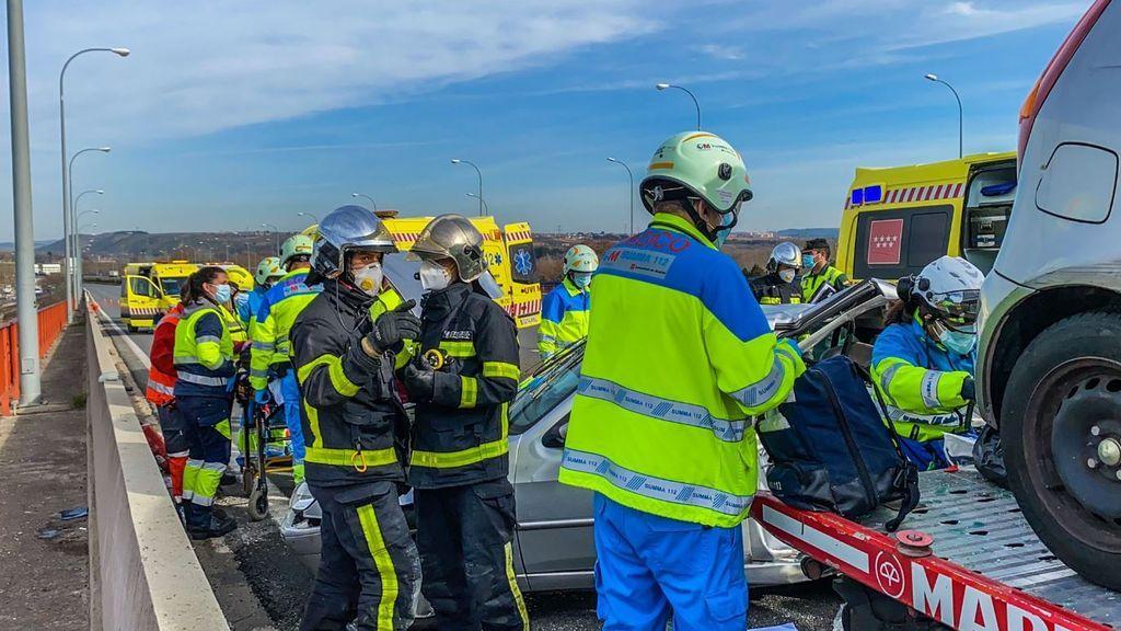 Atropello mortal en una autovía de Madrid.