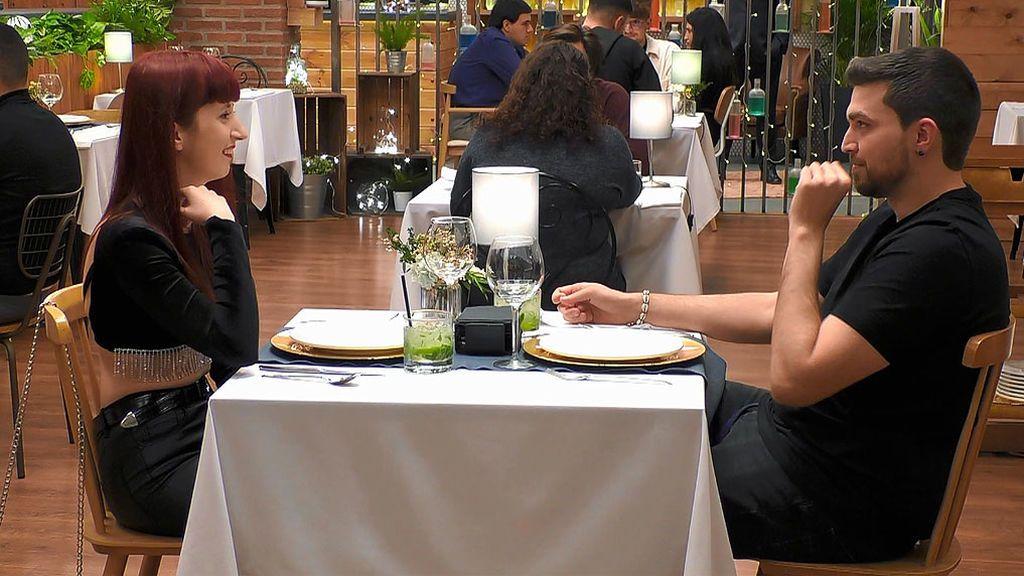 Rubén y Amaya en el programa 'First Dates'