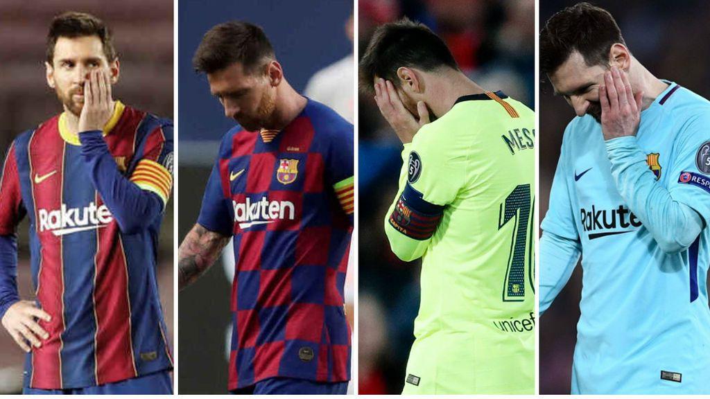 Roma, Liverpool, Bayern y PSG: las cuatro decepciones de Messi en Champions que condenan su futuro en el Barça