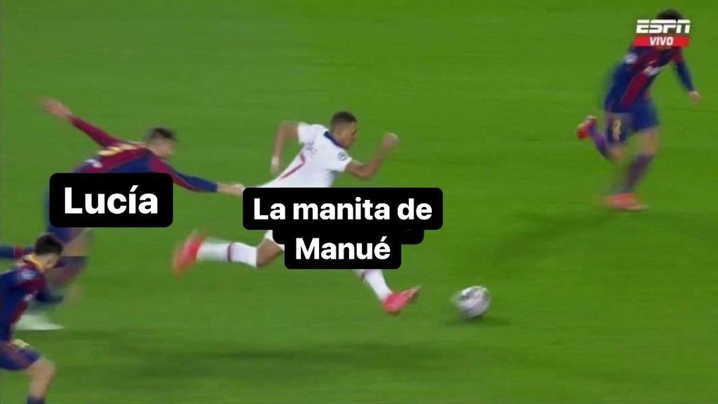 Mbappé, Florentino, Piqué y hasta Lucía y Manuel de  'La Isla de las Tentaciones': los memes de la goleada del PSG al Barcelona