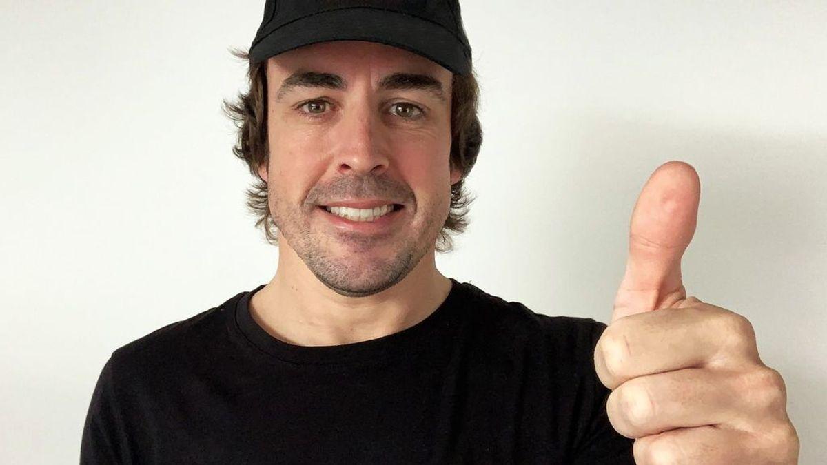 Fernando Alonso ya entrena una semana después del atropello con su bici