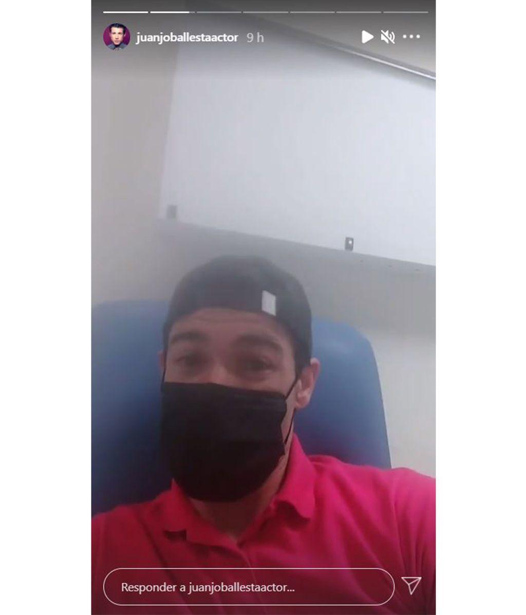Juanjo Ballesta en el hospital