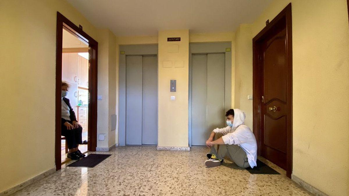 Reencuentro de Álvaro con su abuela