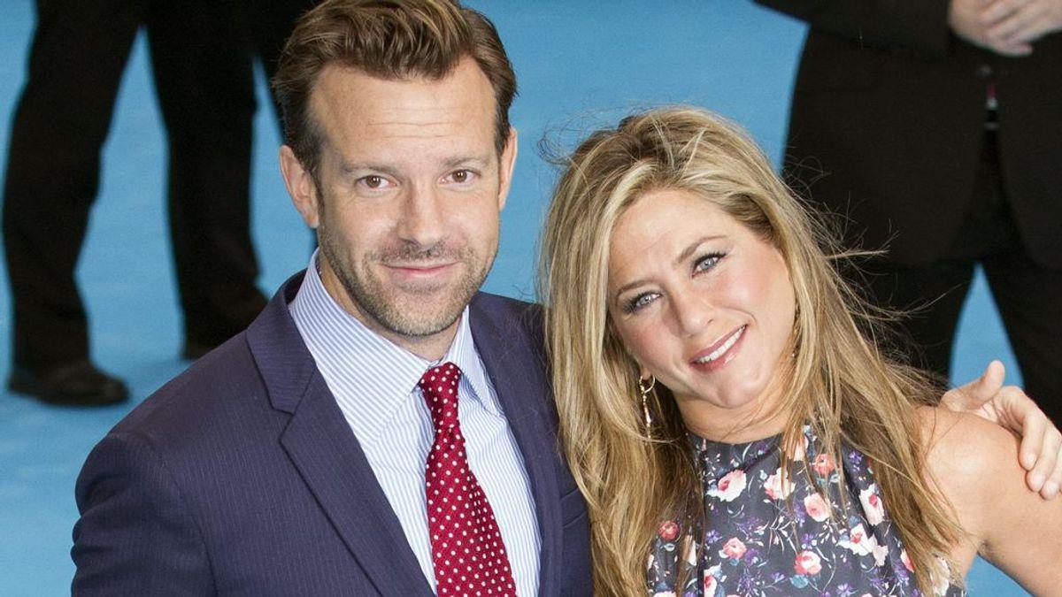 Jason Sudeikis y Jennifer Aniston, en la presentación de 'Somos los Miller' (2013)