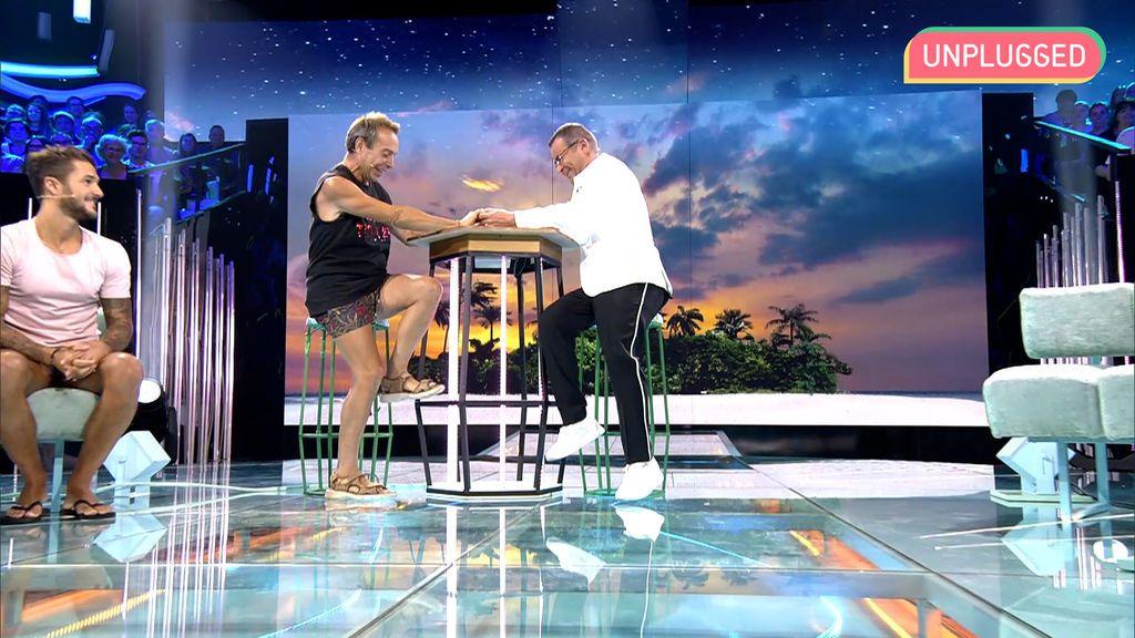 Maestro Joao y Jorge Javier en 'Supervivientes'