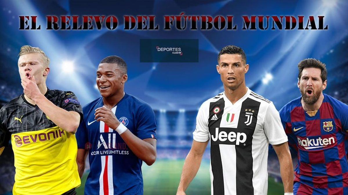 Mbappé y Haaland cogen el relevo de Cristiano y Messi: 38 goles a 15, en las últimas dos ediciones de la Champions