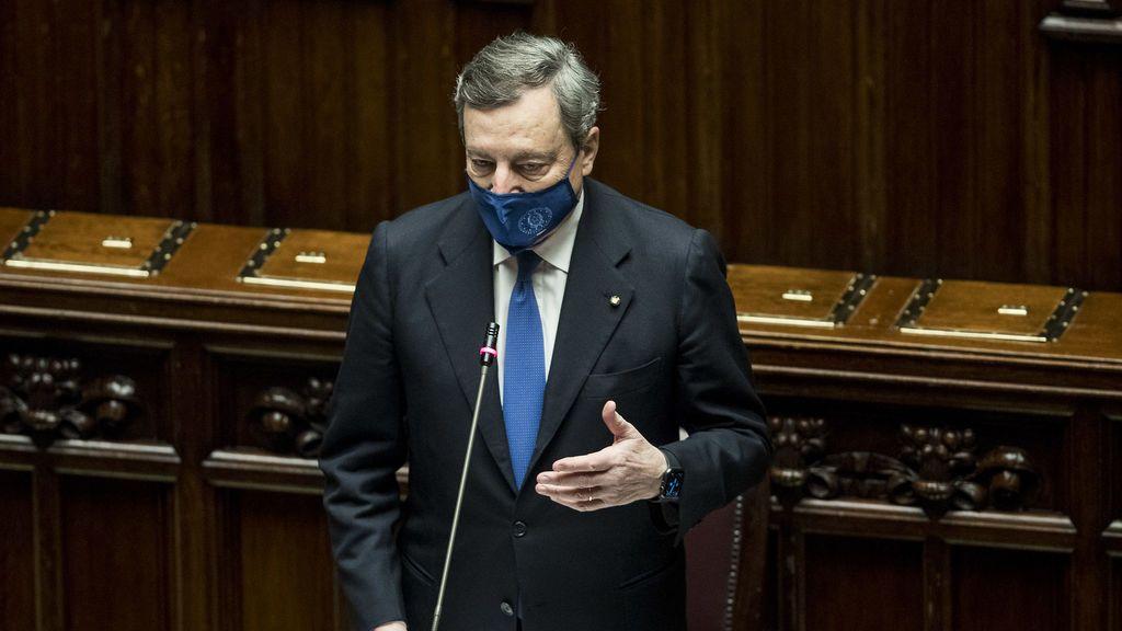 Draghi logra la investidura con los votos de casi todo el Parlamento