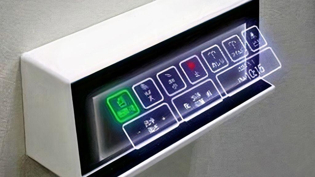 Botones que se ven pero no se tocan para evitar el contagio
