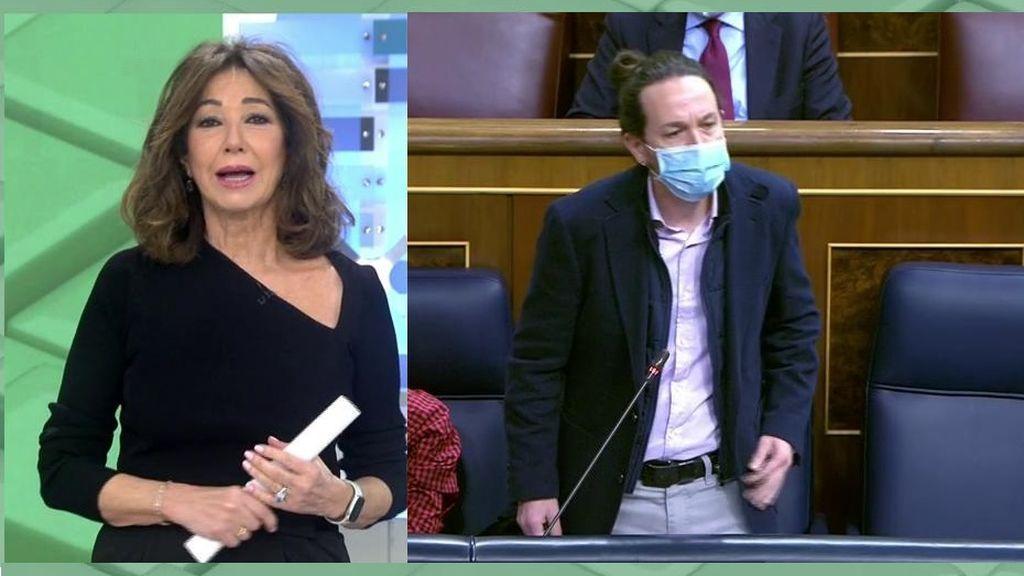 """Ana Rosa estalla contra Pablo Iglesias y su crítica a la prensa: """"A mí me eligen cada día y a usted le nombró Sánchez como..."""