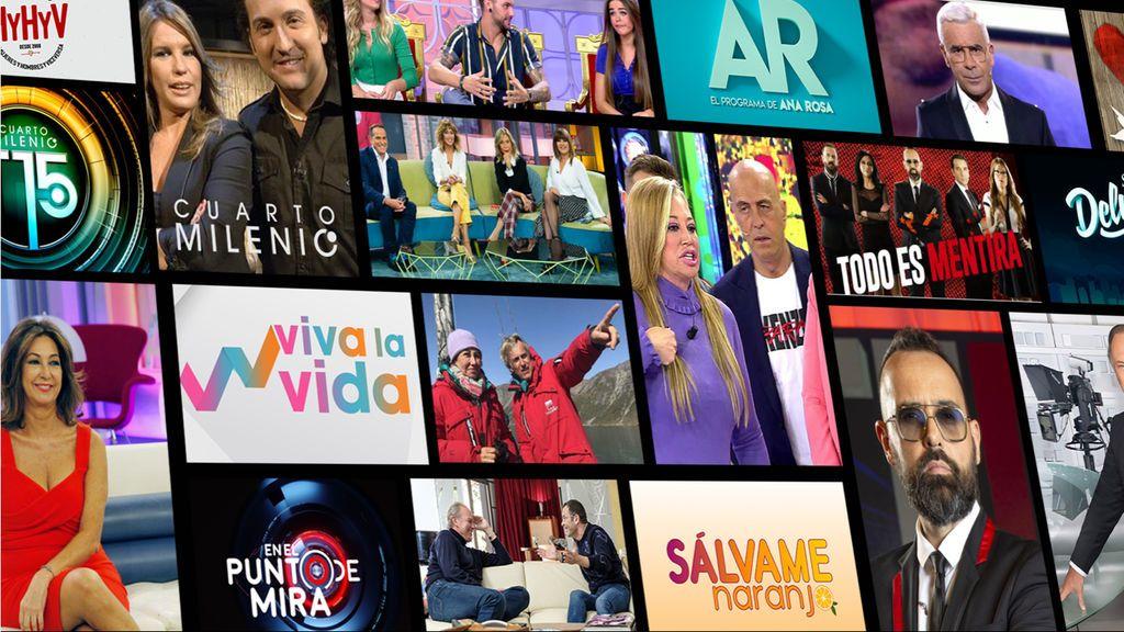 Mediaset España y Mitele aumentan un 10% su consumo de vídeo en enero