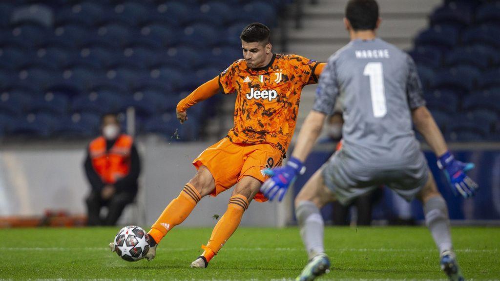Morata jugó unos minutos en la segunda parte del Oporto - Juventus.
