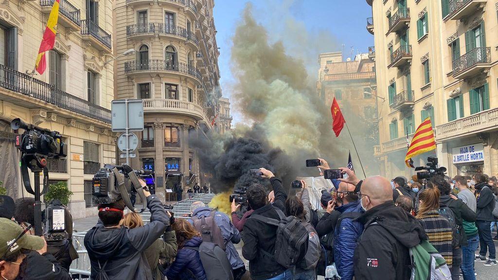 Manifestación de estudiantes en contra del encarcelamiento de Pablo Hasél