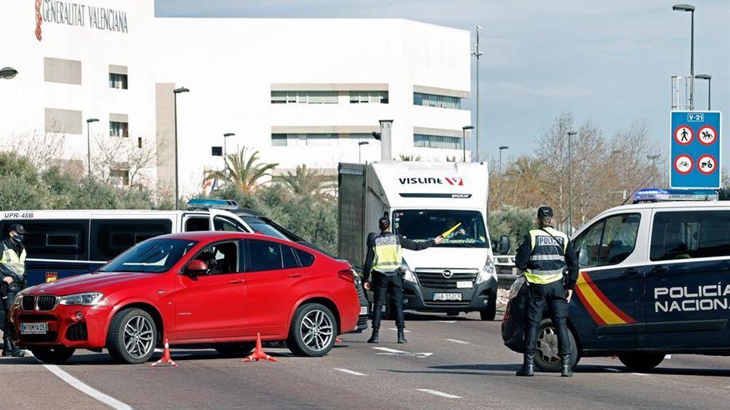 Atascos en Valencia antes del cierre perimetral
