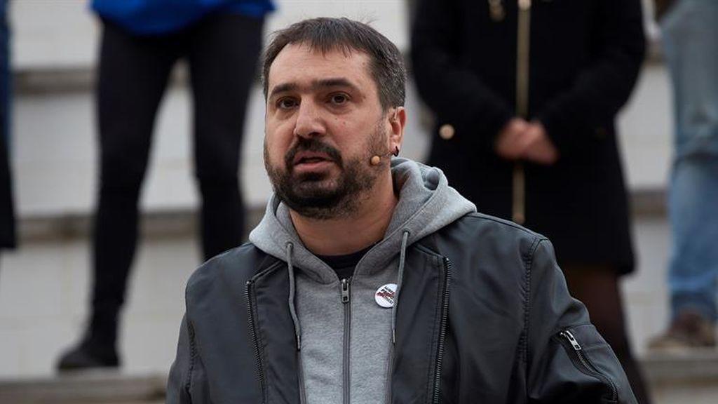 El candidato de la CUP por Girona, Dani Cornellà, herido en la protesta por Hasel