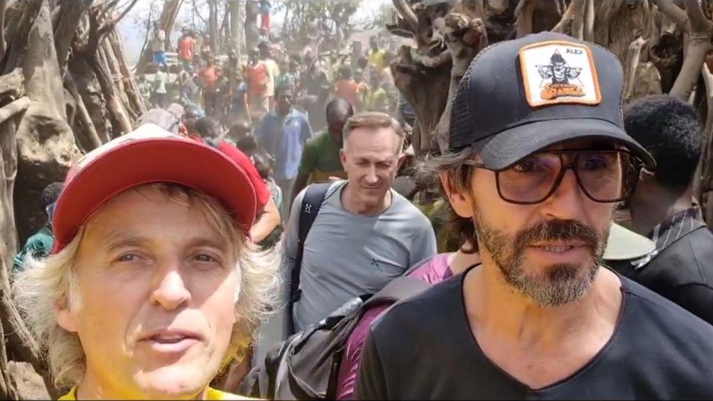 Santi Millán alucina con las tribus de Etiopía en su impactante viaje junto a Jesús Calleja