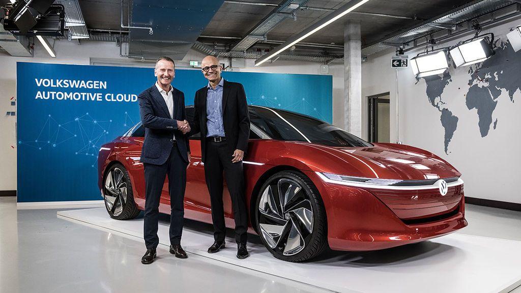 HERBERT DIESS (CEO VW) Y SATYA NADELLA (CEO MICROSOFT)