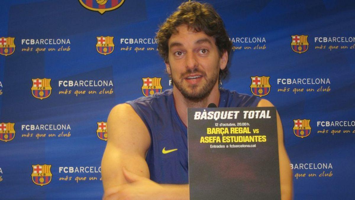 Pau Gasol regresa al Barça 20 años después para jugar hasta final de temporada