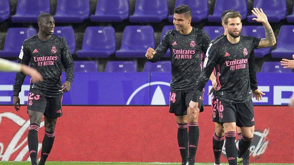 Casemiro le da la victoria al Real Madrid ante el Valladolid (0-1)