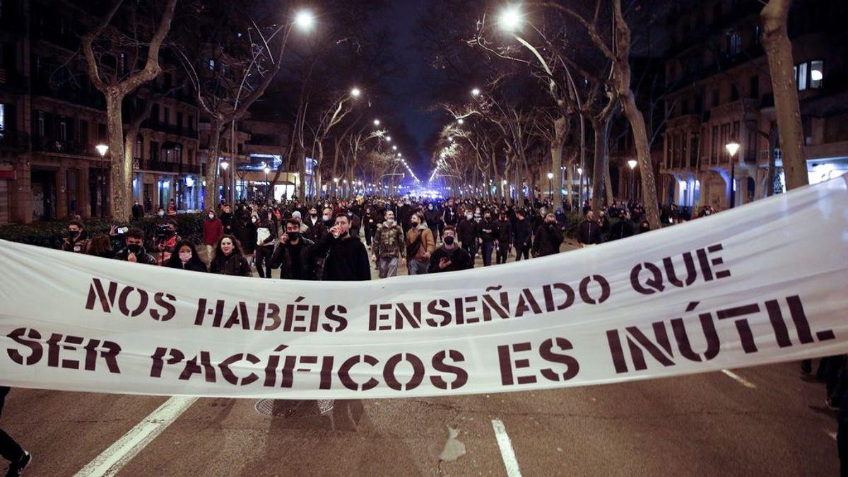 Así ha sido las protestas por Hasél en Barcelona este domingo