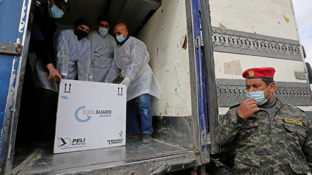 Vacunas llegan a la Franja de Gaza