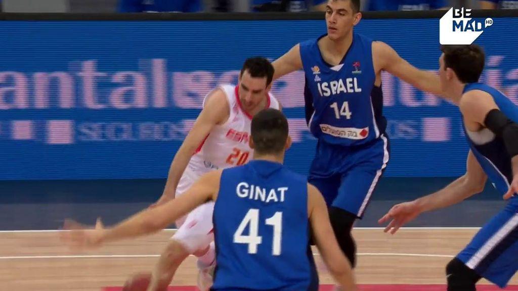 Israel castiga a España a base de triples