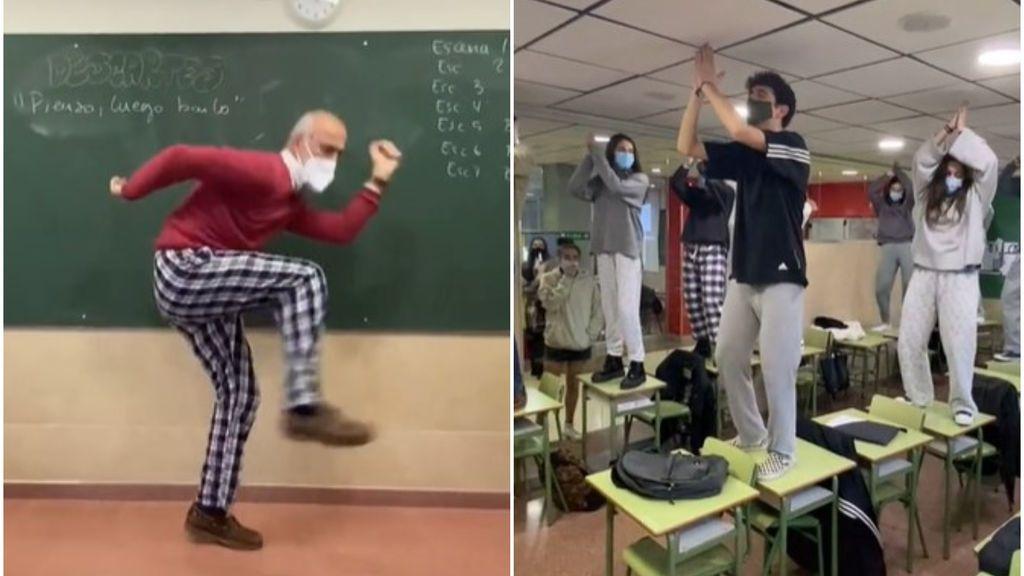 """Un profesor madrileño se vuelve viral por animar a sus alumnos dando clase en pijama: """"Es mejor que Merlí"""""""