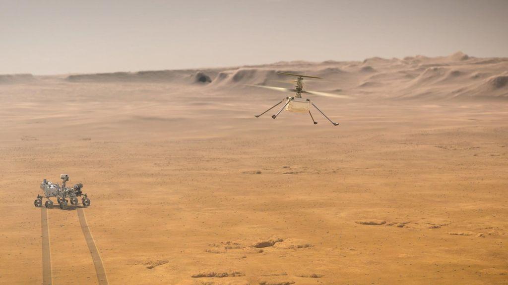 ¡El Ingenuity funciona! La NASA consigue comunicarse con el helicóptero aterrizado en Marte