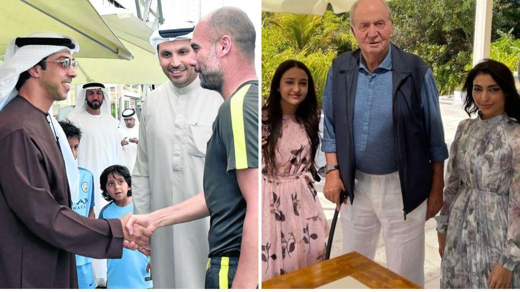 El jeque del PSG, y jefe de Guardiola, da cobijo a don Juan Carlos en Abu Dhabi:  playa privada y una villa de 6.000 euros la noche