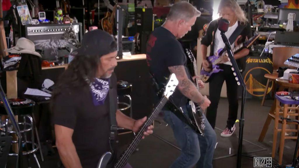 Metallica actúa por sorpresa en la BlizzCon y Twitch silencia su música por derechos de autor