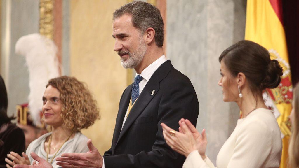 La ausencia de Juan Carlos I marca el acto del 40 aniversario del 23-F en el Congreso, presidido por el rey