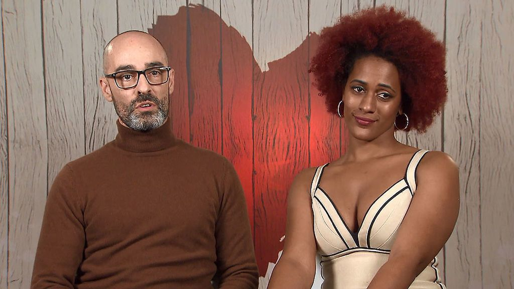 Image of Antonio and Paula in the 'First Dates' program