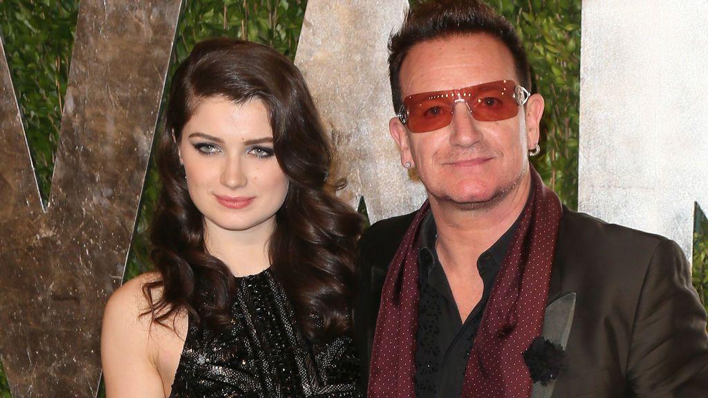 Eve Hewson con su padre, Bono de U2