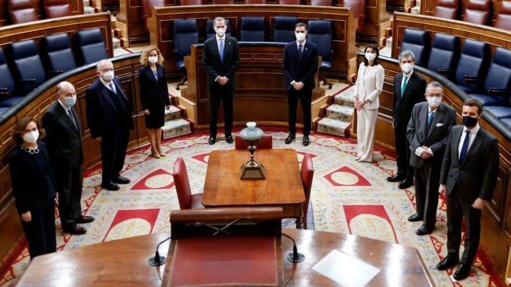 Aniversario del 23-F en el Congreso: Batet defiende el papel del rey Juan Carlos