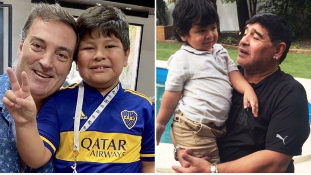 Dieguito, hijo de Maradona, sigue los pasos de su padre y ya despunta en el fútbol base argentino