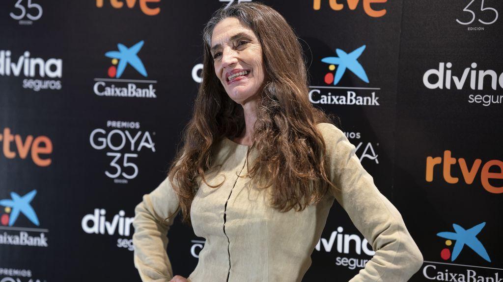 La actriz Ángela Molina nunca ha tratado de esconder sus canas.