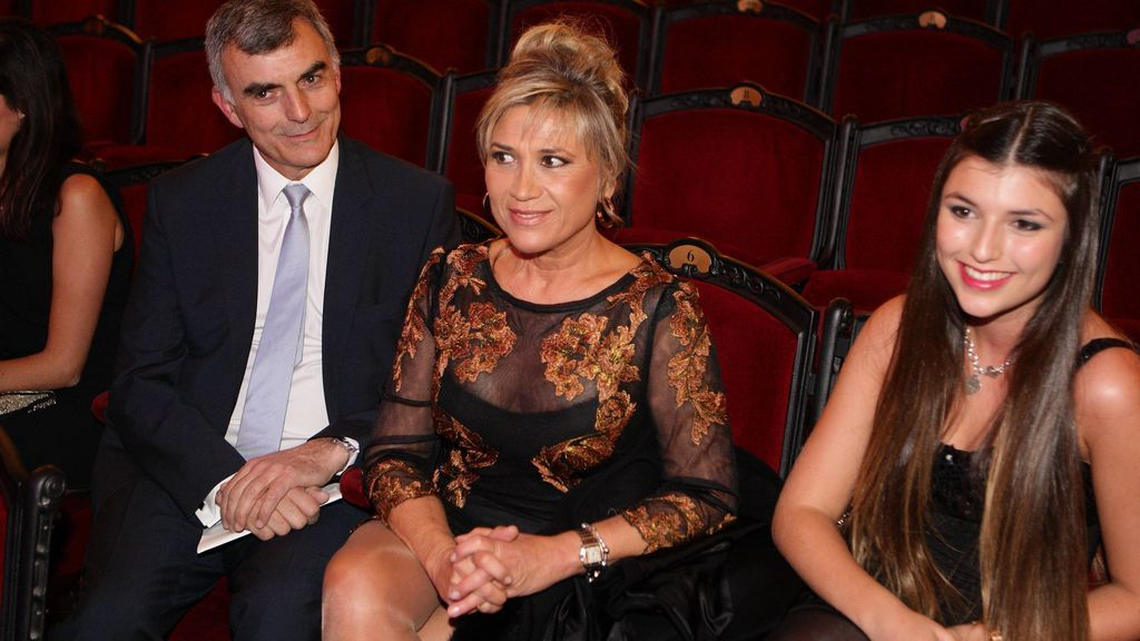 El marido de Julia Otero y su hija, en los Premios Ondas 2013