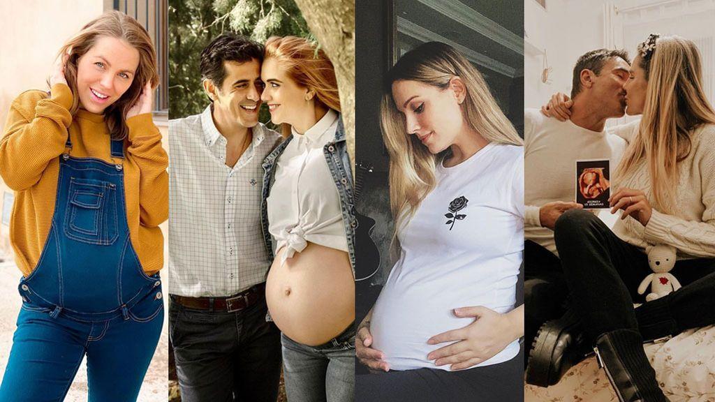 Anabel Pantoja no está embarazada, pero ellas sí: desde Edurne hasta Ivana Icardi, las famosas de Telecinco que darán a luz este año