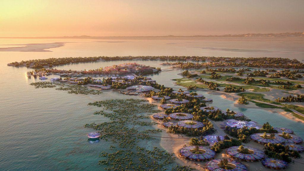 La isla paradisíaca del Mar Rojo tendrá forma de delfín: Arabia Saudí prepara su resort más ambicioso