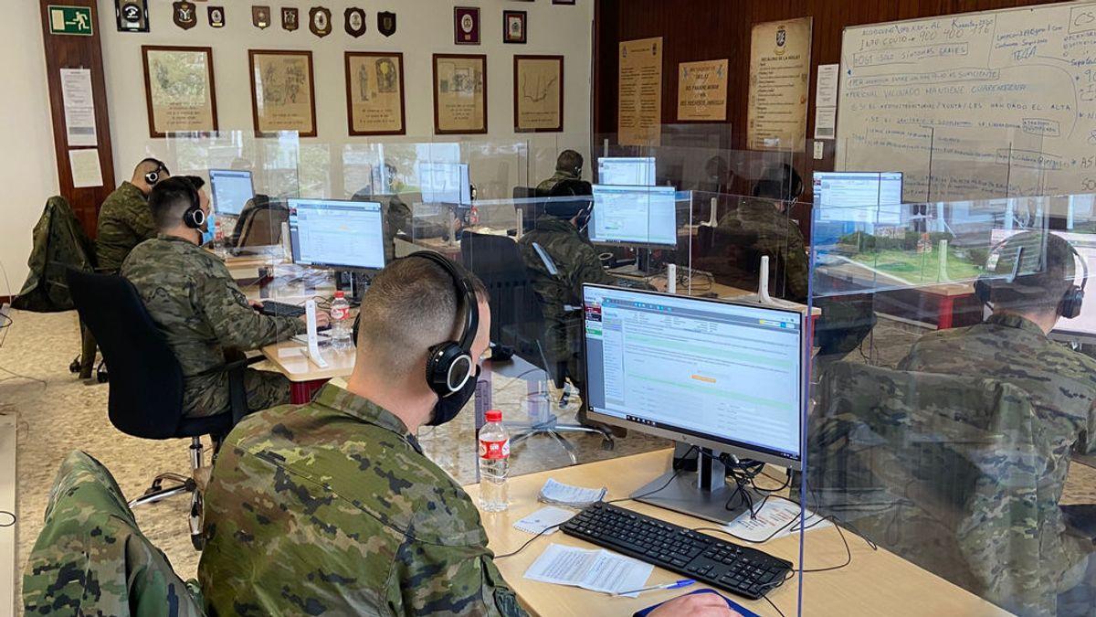 120 militares trabajan como rastreadores en la base de la BRILAT en Pontevedra
