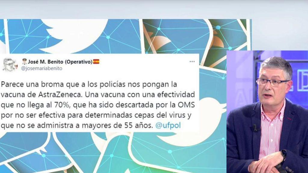 Policías de Madrid rechazan vacuna
