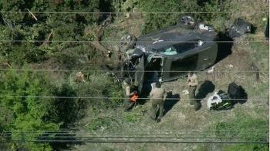 Las imágenes del accidente de tráfico de Tiger Woods en California