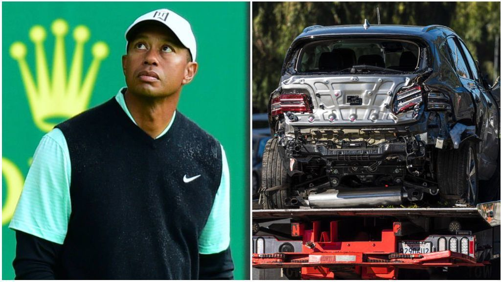 Las causas del accidente de Tiger Woods: el coche le salvó la vida
